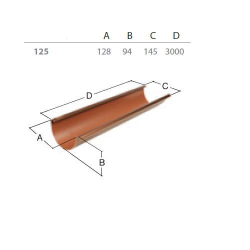 Okapový žlab RG 125 3 m