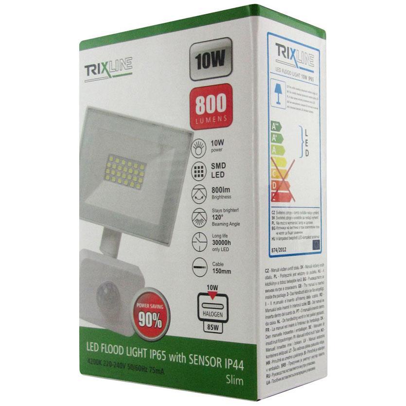 Světlomet LED 10W 4200k bílý s čidlem