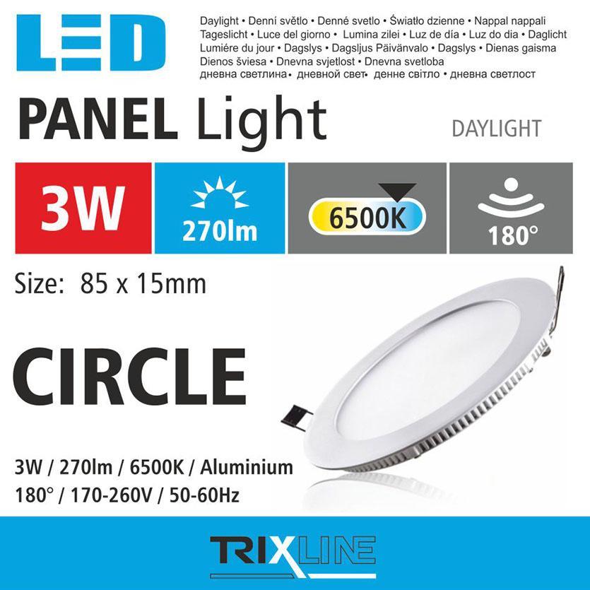 Svítidlo BC TR 3W LED 6500 k circle cw