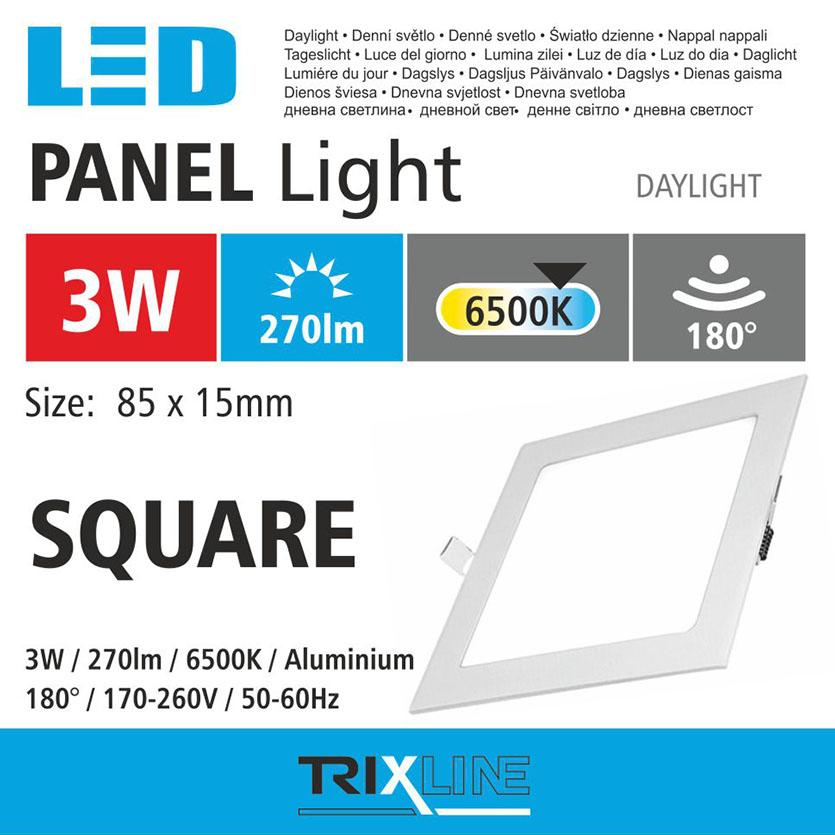 Svítidlo BC TR 3W LED 6500k square