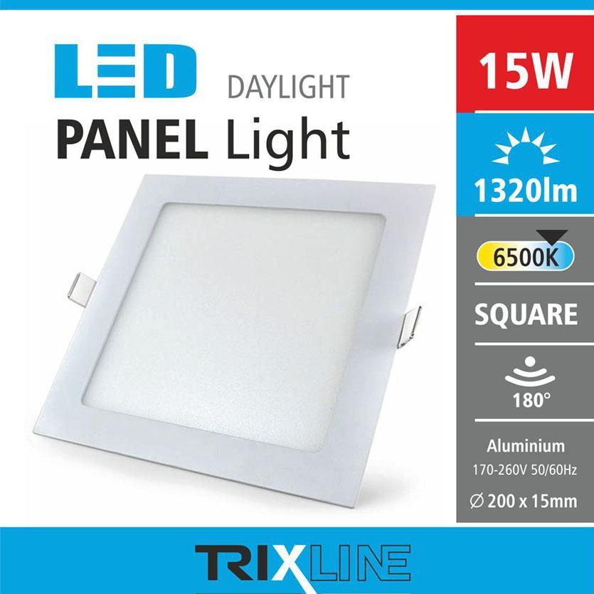 Svítidlo 15W square CW 6500k