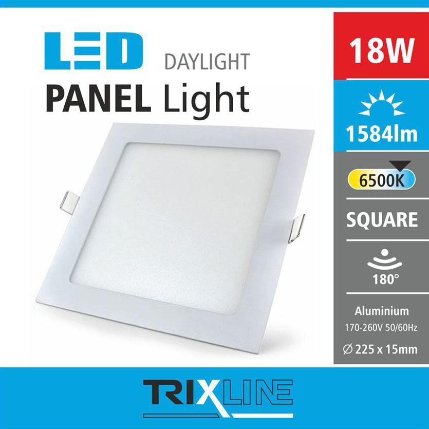 Svítidlo 18W square CW 6500k
