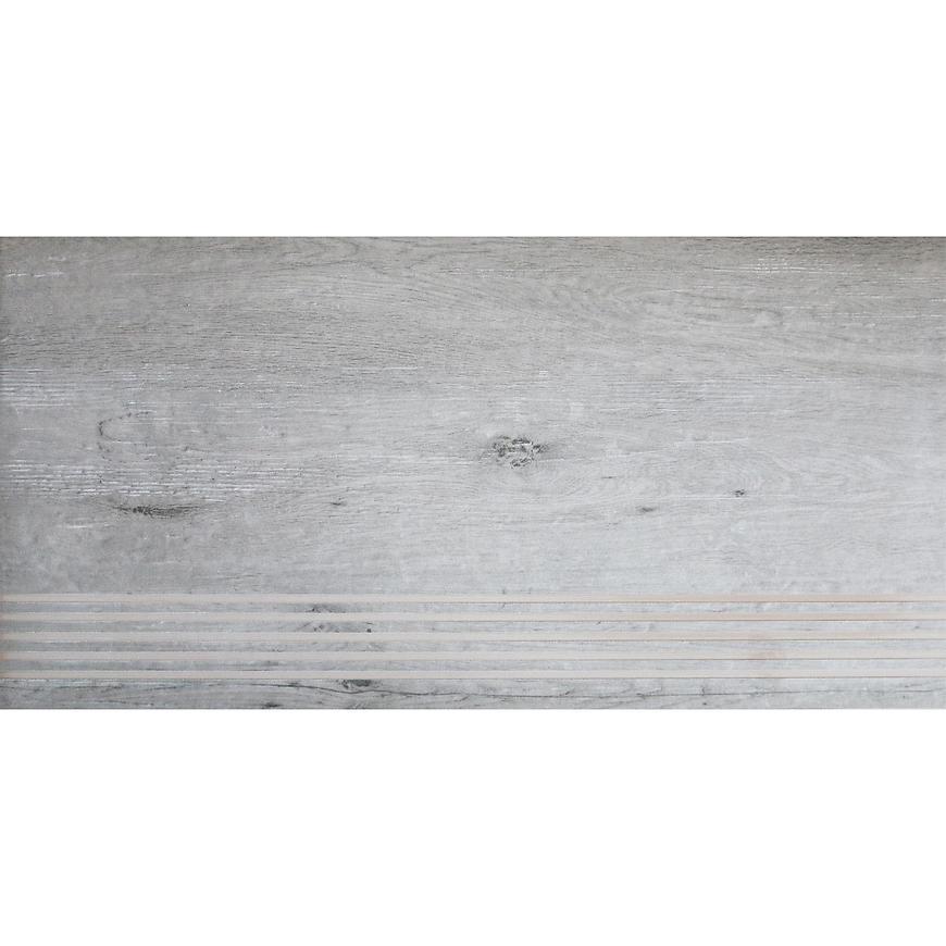 Dlažba schodová Barcelona Wood light grey 30,7/60,7
