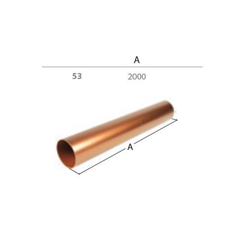 Svodová trubka dn  53 2 m  antracit