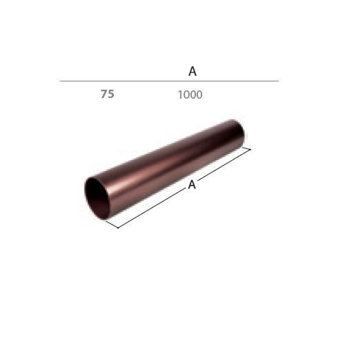 Svodová trubka dn  75 1 m  antracit