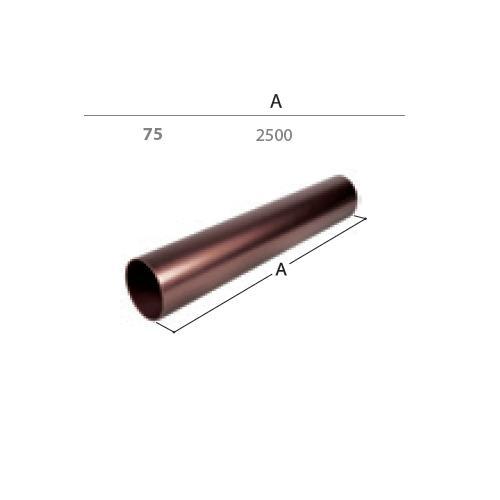 Svodová trubka dn  75 2,5 m  antracit