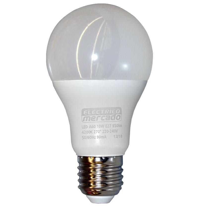 Žárovka LED EM 10W A60 E27 4200K