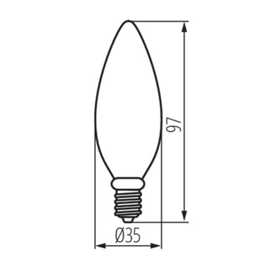 Žárovka LED EM 6W C35 E14 4200K