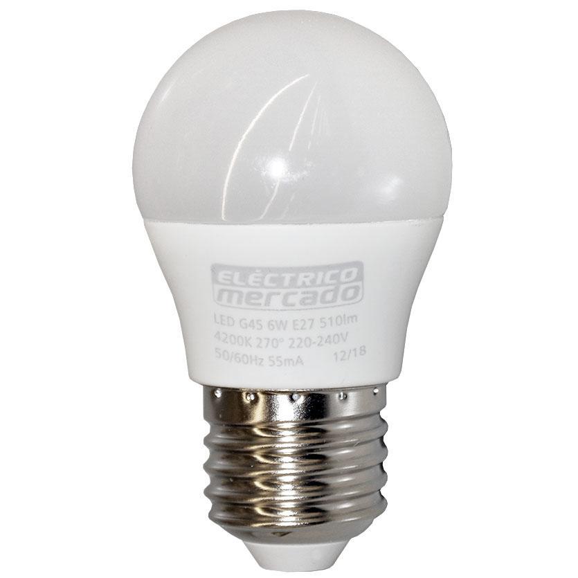 Žárovka LED EM 6W G45 E27 4200K