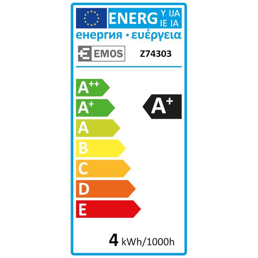 Žárovka LED VNT G125 4W E27 WW+ Z74303