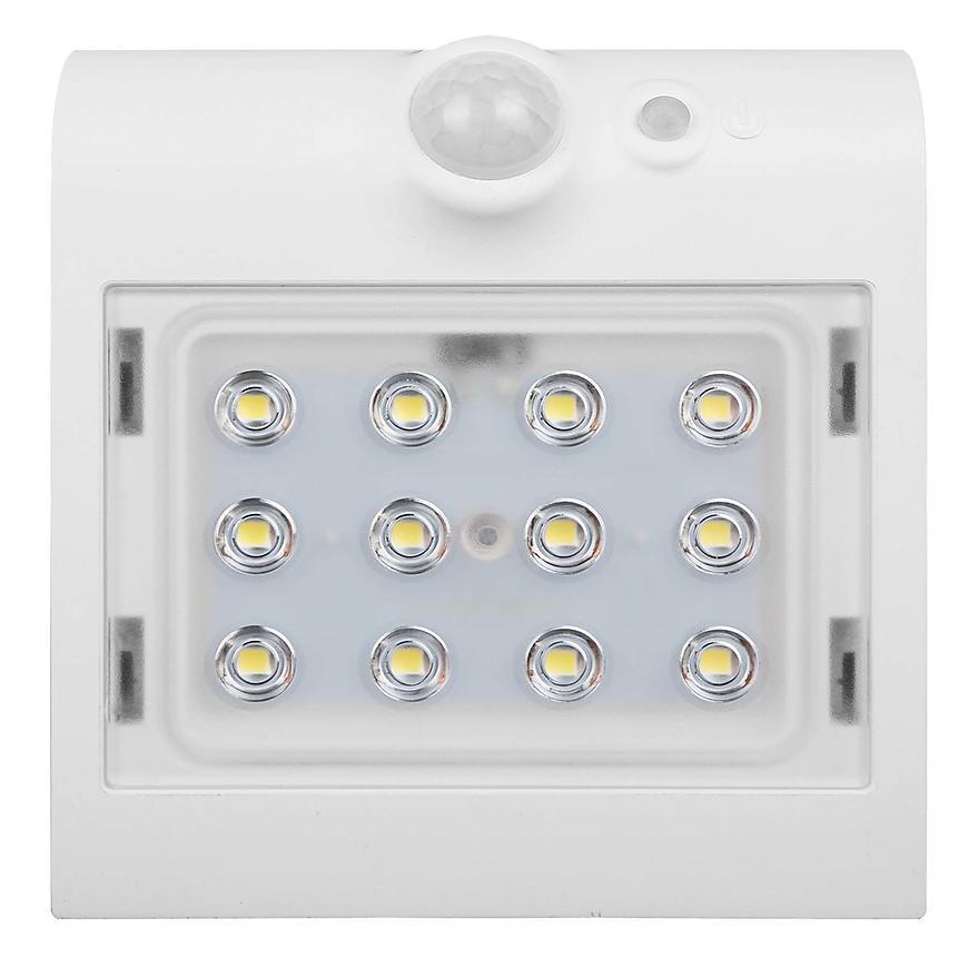 Solární osvětlení LED 1,5W PIR IP65 4000K 220lm bílá