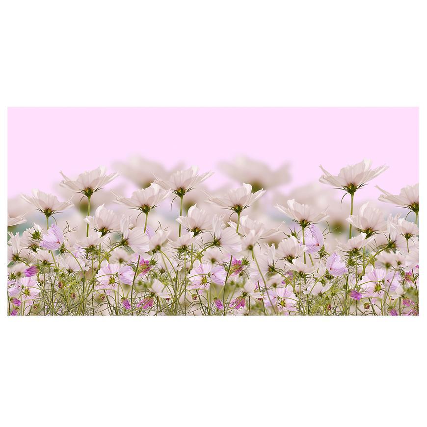 Dekor skleněný - bílé květy 1 30/60
