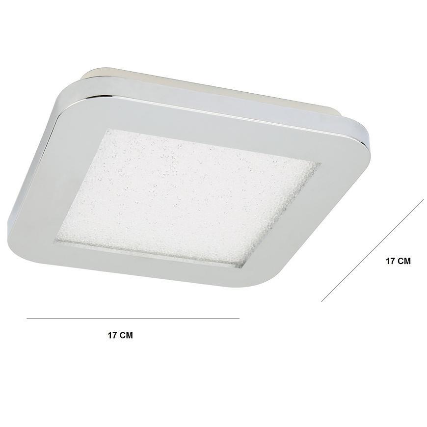 Stropné svietidlo Nexit Plafon 17x17 10w Led Ip44 Chrom+Granila 3000k