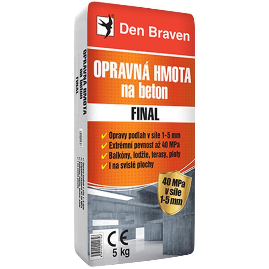 Opravná hmota na beton Den Braven FINAL 5 kg