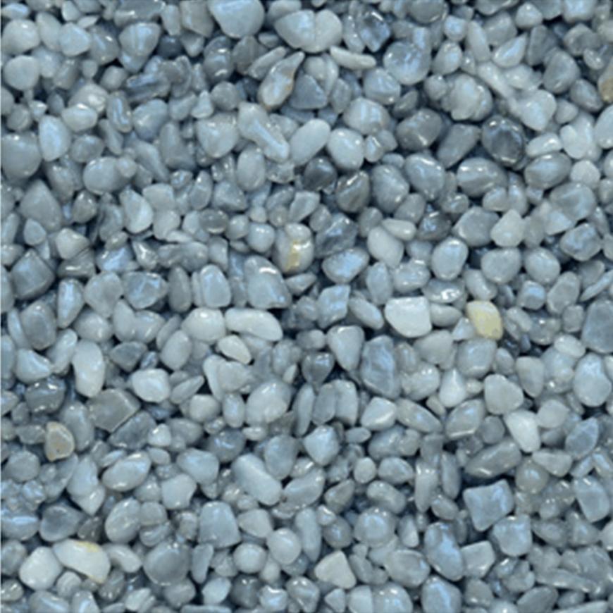Mramorové kamínky Den Braven šedé světlé 3-6 mm 25 kg