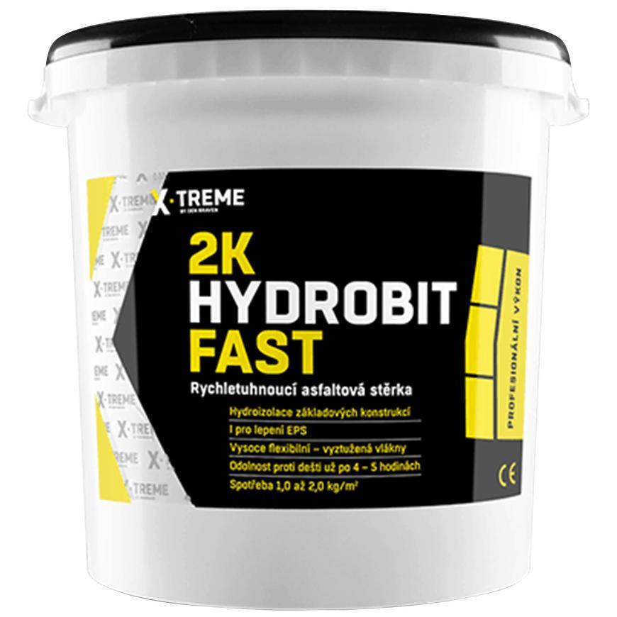 2K Hydrobit Fast – Rychletuhnoucí asfaltová stěrka 15 kg