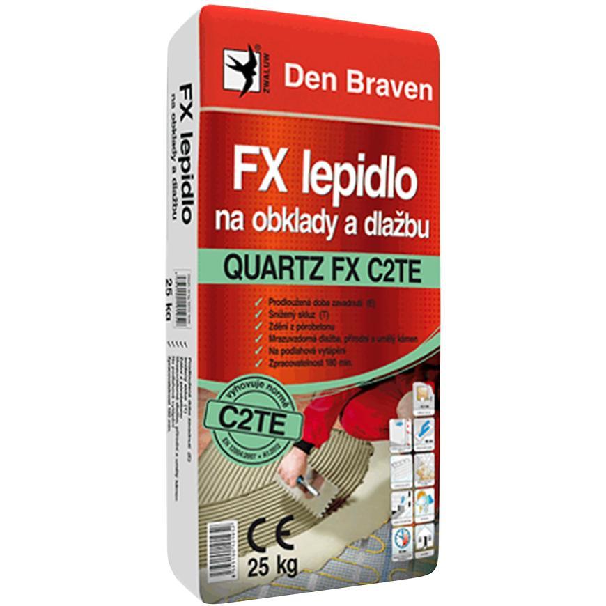 Den Braven FX lepidlo na obklady a dlažbu QUARTZ FX C2TE 7 kg šedá