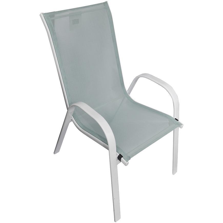 Sada Bergen skleněný stůl +6 židlí mořská