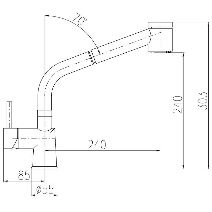 Baterie dřezová stojánková SEINA SE911.0