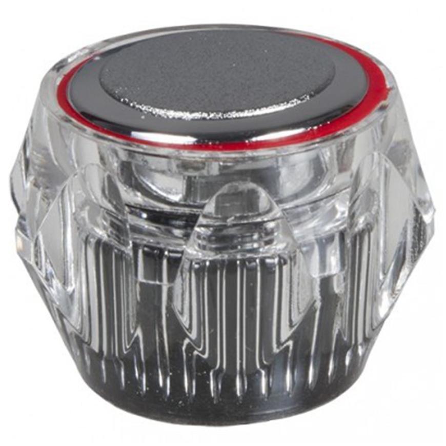 Otočný knoflík průhledný červený U057-C