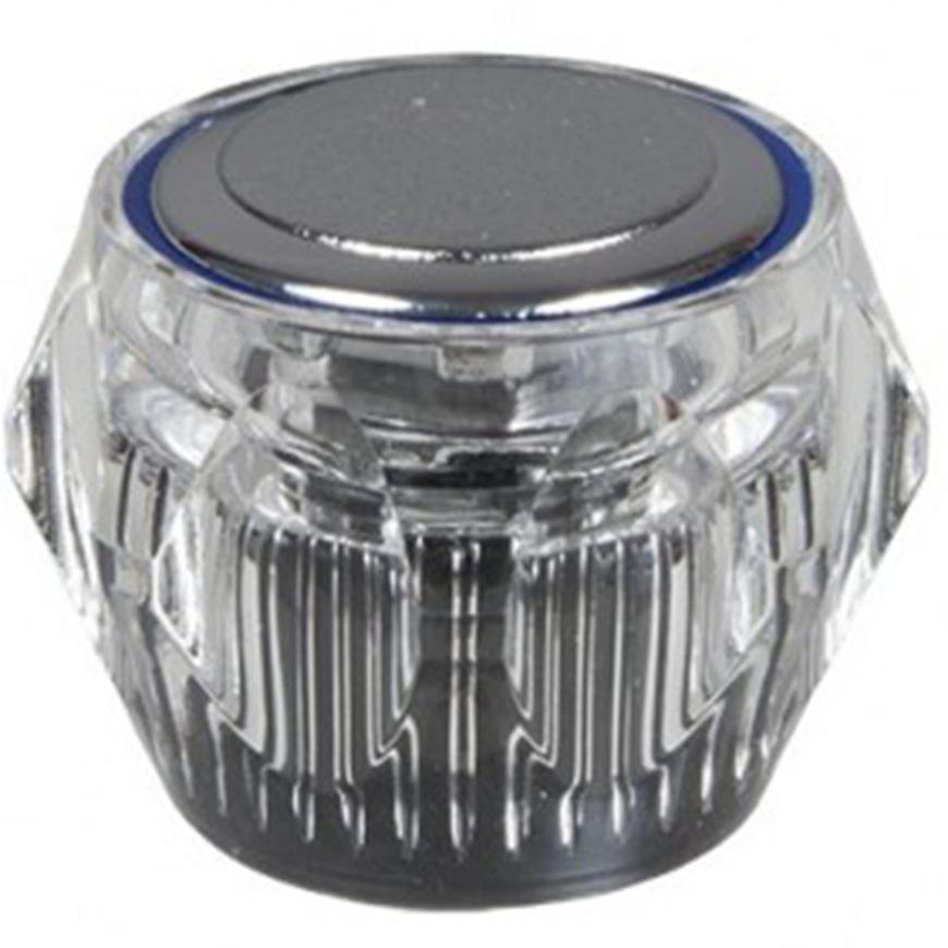 Otočný knoflík průhledný modrý U057-Z