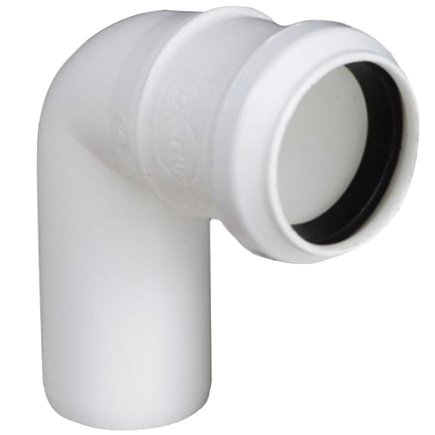 Koleno bílé  ø40 x 45°