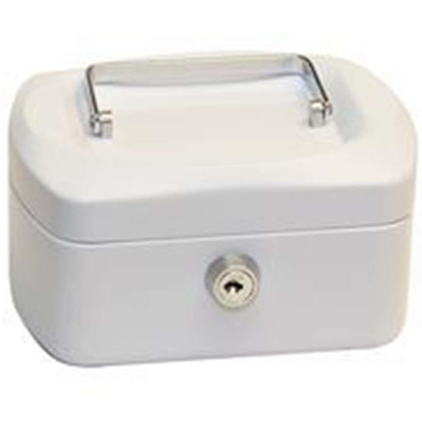 Ocelová pokladnička bílá 155x120x90mm TS.0140.C