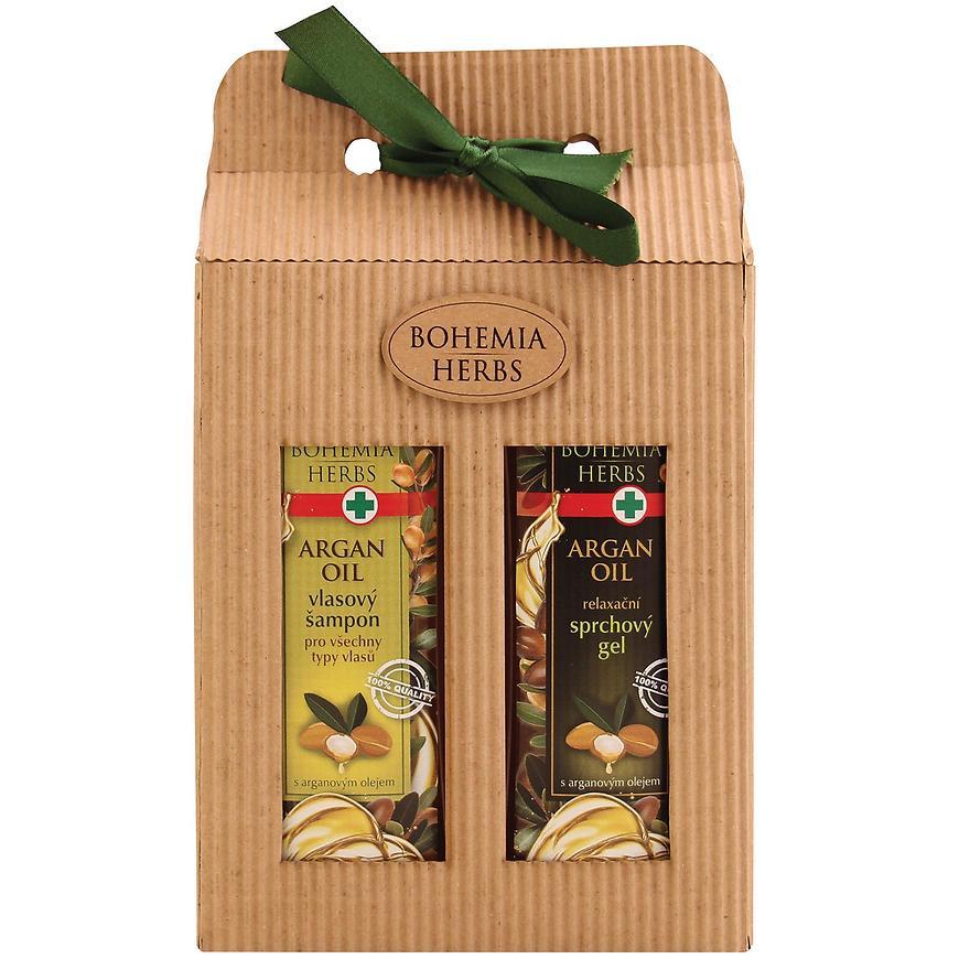 Dárkové balení - sprchový gel 250 ml + vlasový šampon 250 ml s arganovým olejem