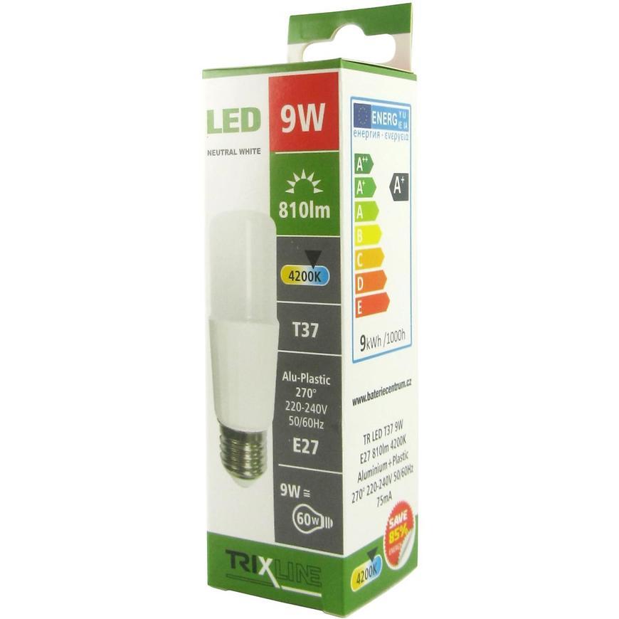 Žárovka LED T37 9W E27 4200K