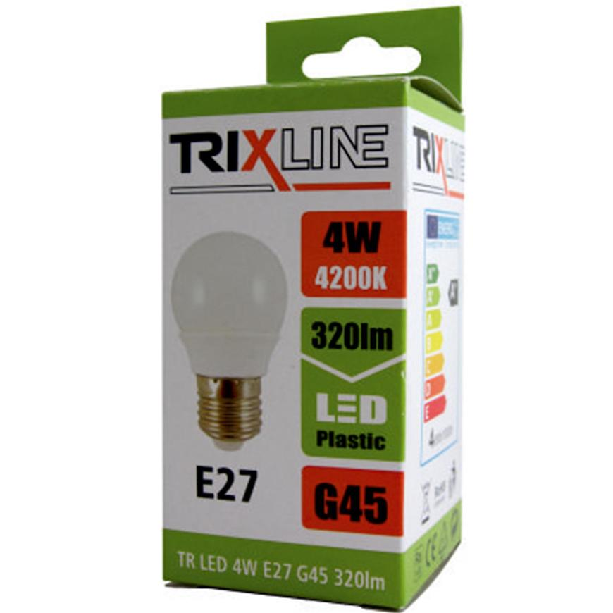 Žárovka BC 4W TR LED E27 G45 4200K Trixline