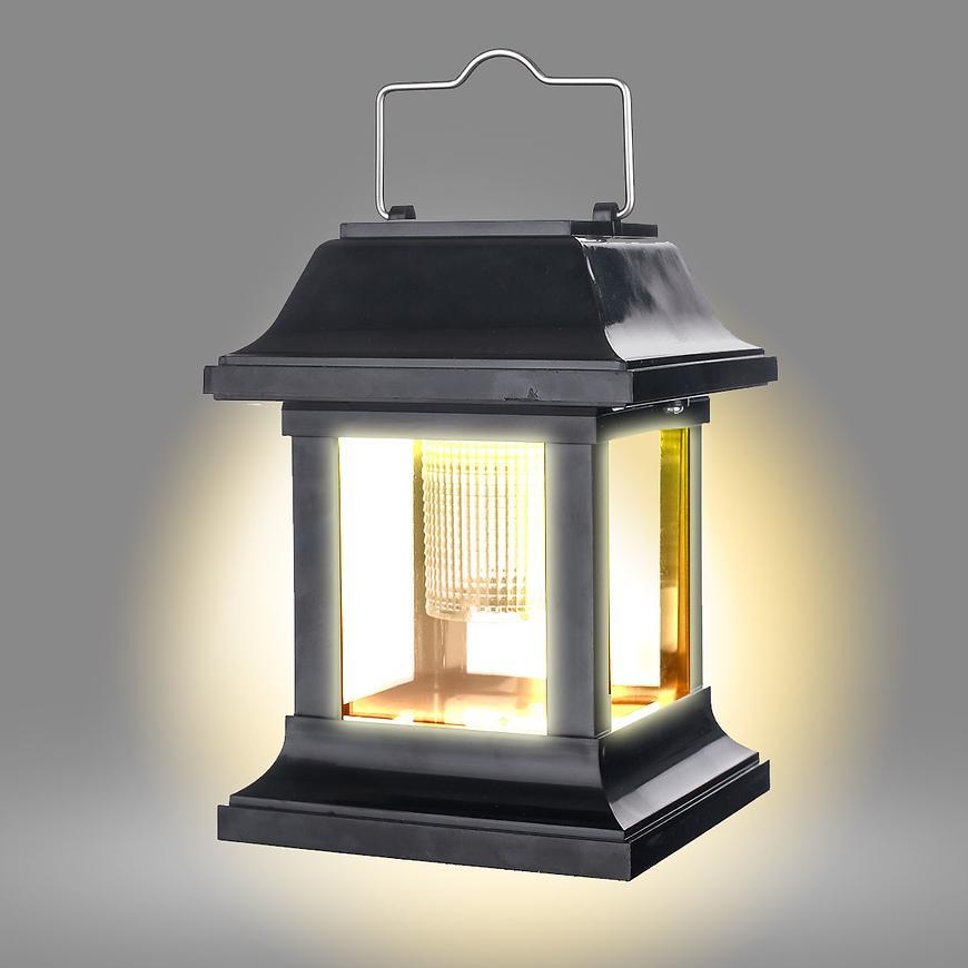 Solární lampa 0980205 černá