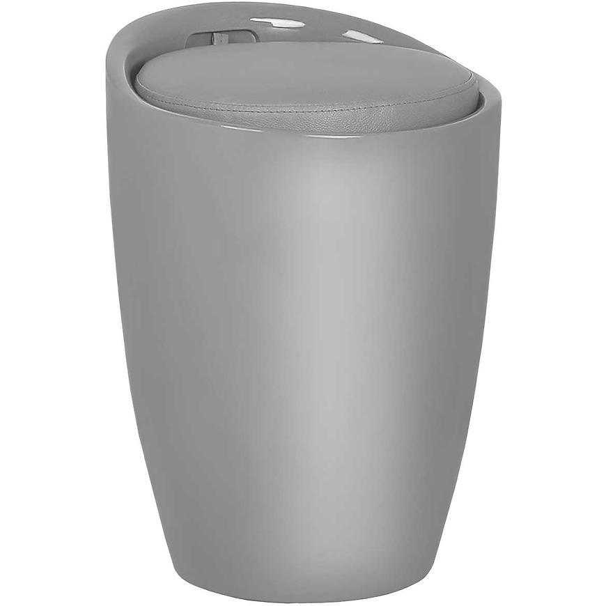 Koš prádelní Pufa Prince 35x35x50 šedý