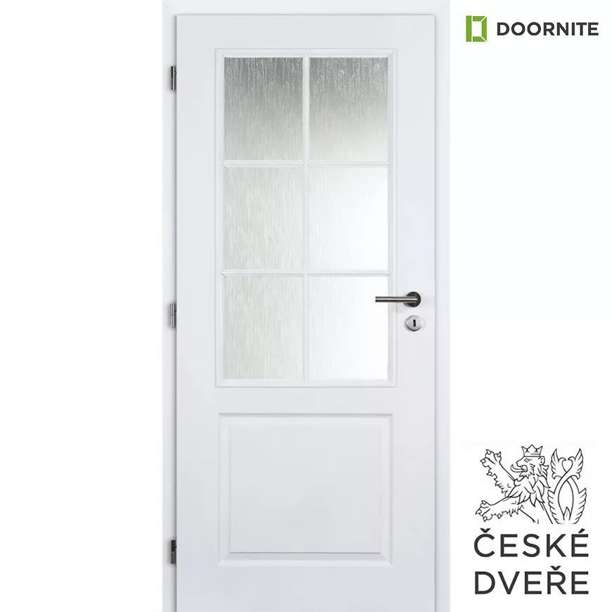 Interiérové dveře Aulida 2/3 Sklo Bílé 70L