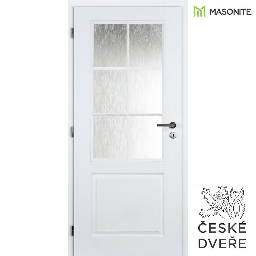 Interiérové dveře Aulida 2/3 Sklo Bílé 90L