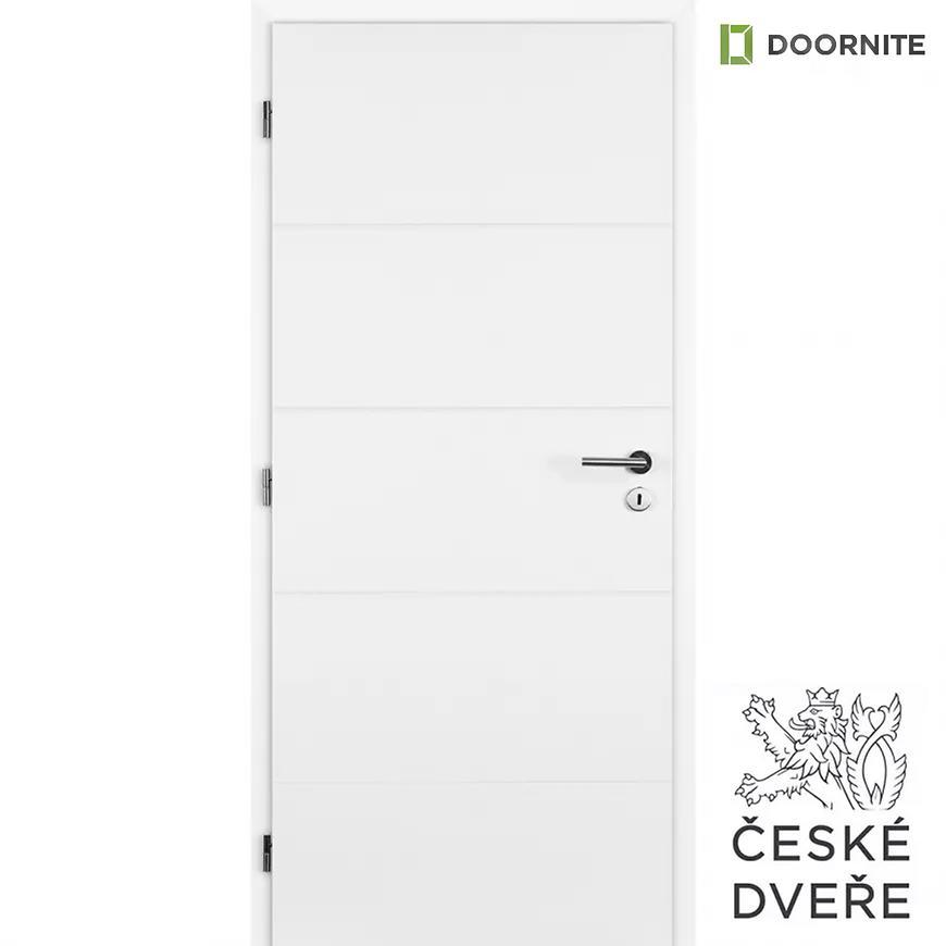 Interiérové dveře Quatro Plné Bílé 70L