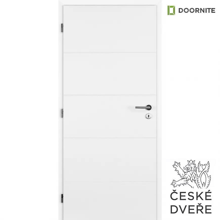 Interiérové dveře Quatro Plné Bílé 80L