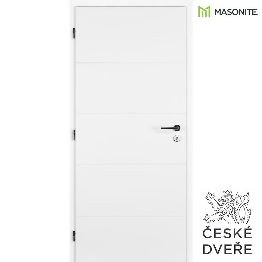Interiérové dveře Quatro Plné Bílé 90L