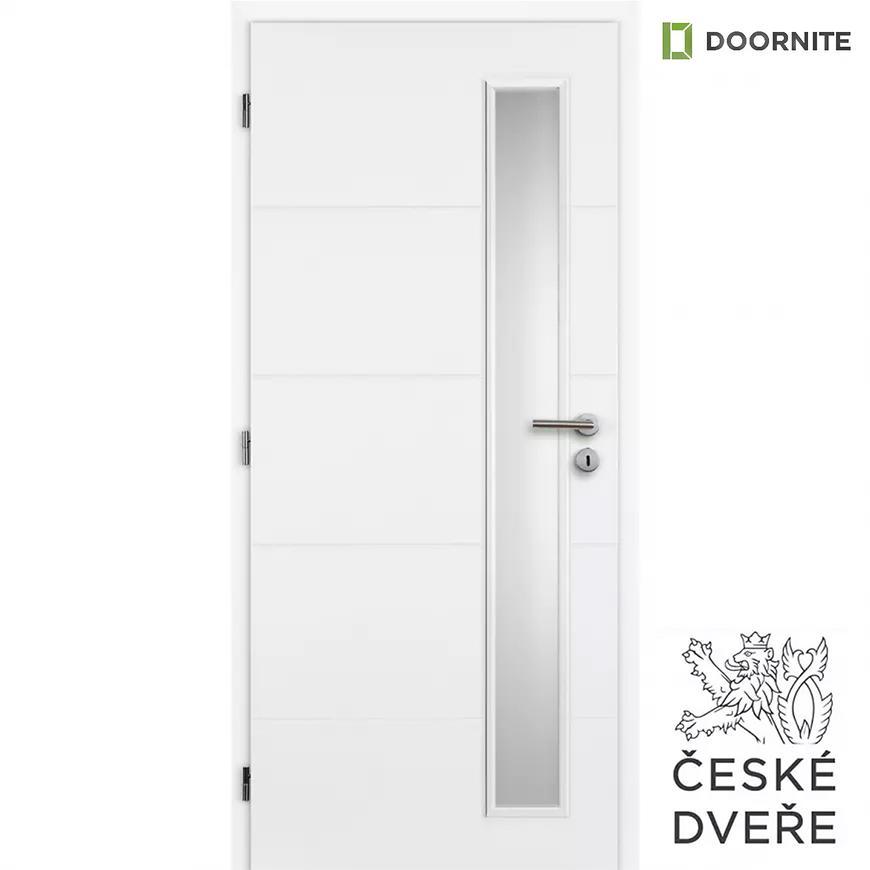 Interiérové dveře Quatro Vertika Sklo Bílé 70L
