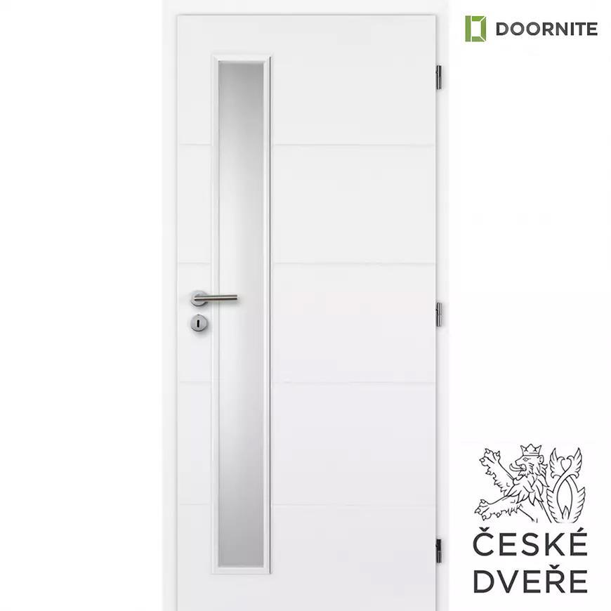 Interiérové dveře Quatro Vertika Sklo Bílé 90P