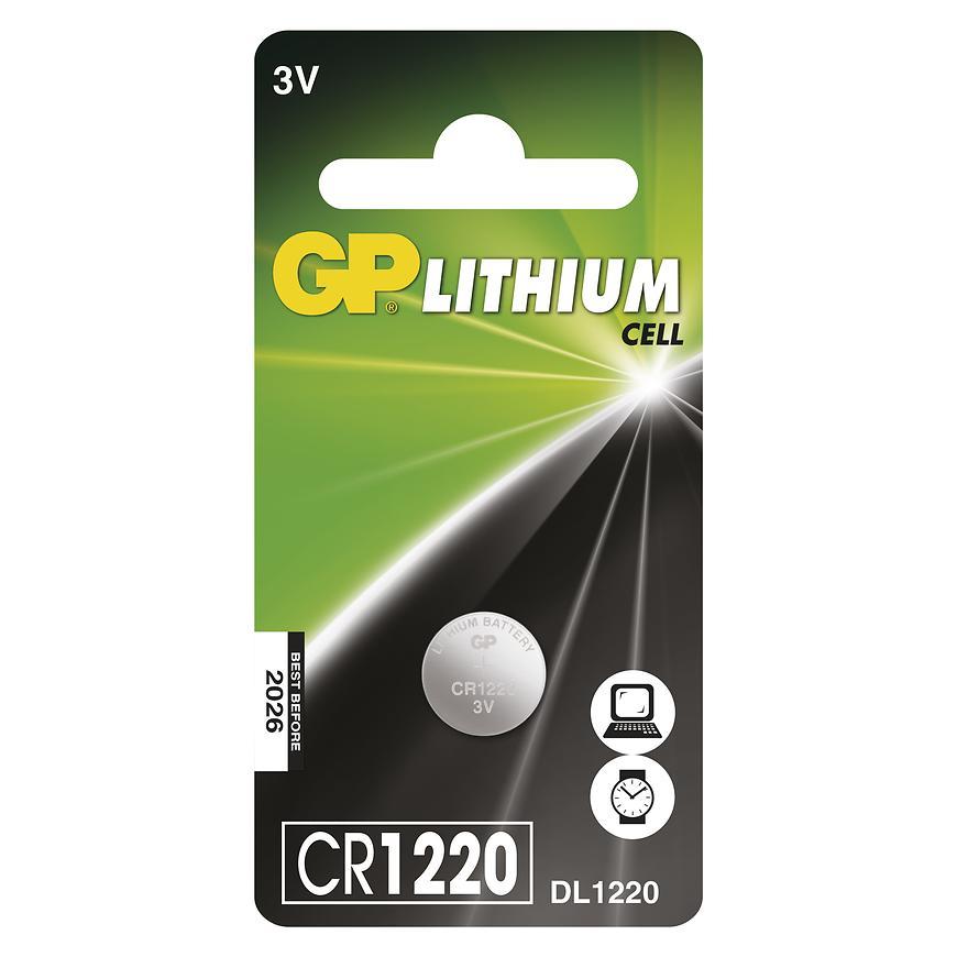Bateria GP knof. CR1220 1BL B15201