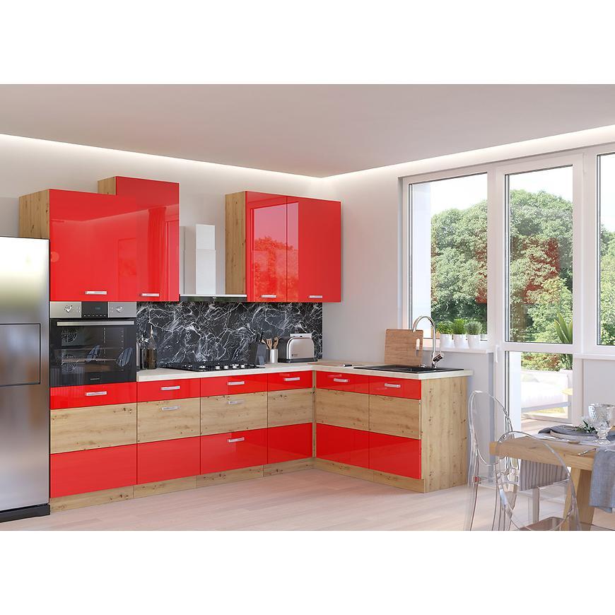 Kuchyňská skříňka Artisan červený lesk 80G-72 2F