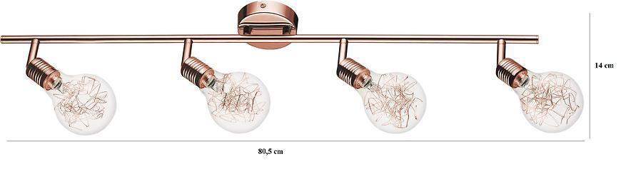 Závěsné svítidlo Bulbs 4xG9 28W měď/průhledný