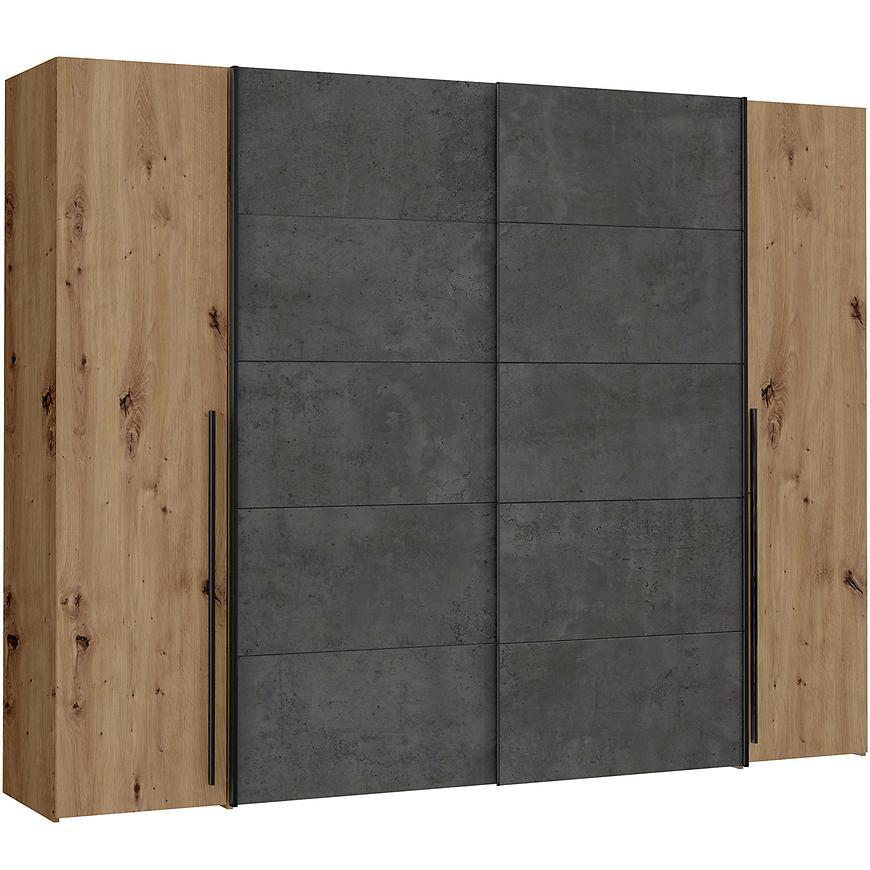 Skříň Narago 270 cm Dub Aristan/Beton