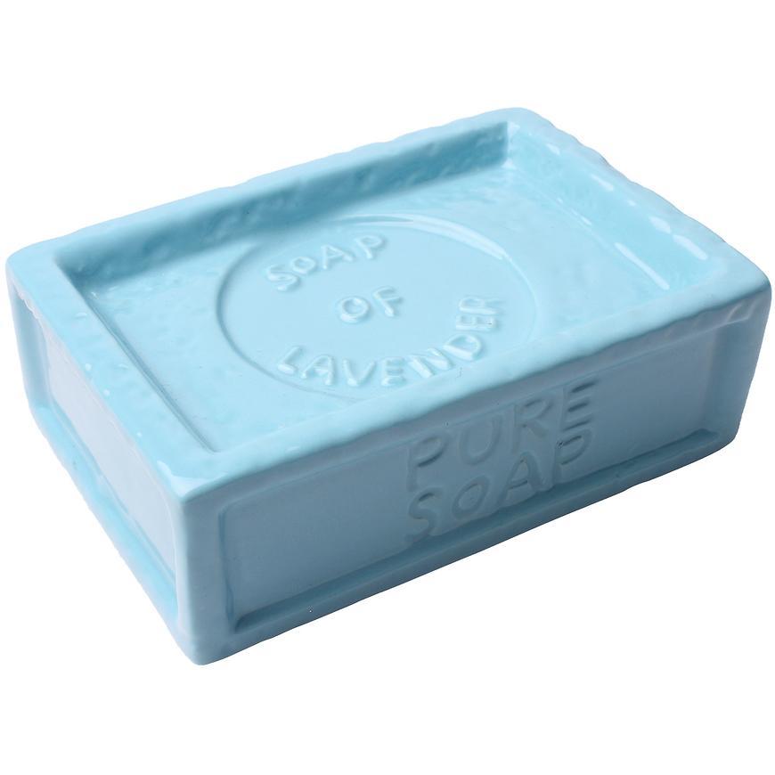 Mýdlenka savon, 12x8x4cm, modrá