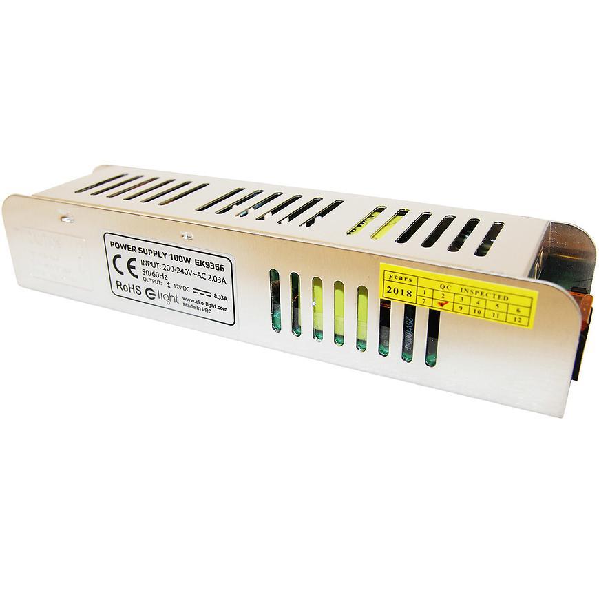 Transformátor LED 100W IP20