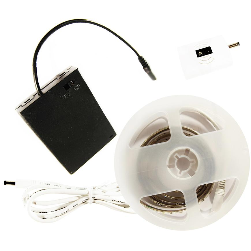 Set LED 1M 2,4W 4000K s čidlem, bat AAA, CL-SSA