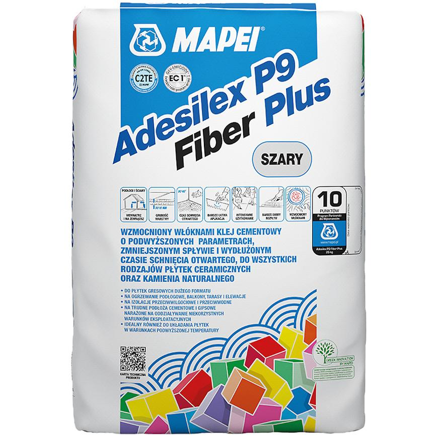 Lepidlo na obklady Mapei Adesilex P9 Fiber Plus C2TE 25 kg,šedé