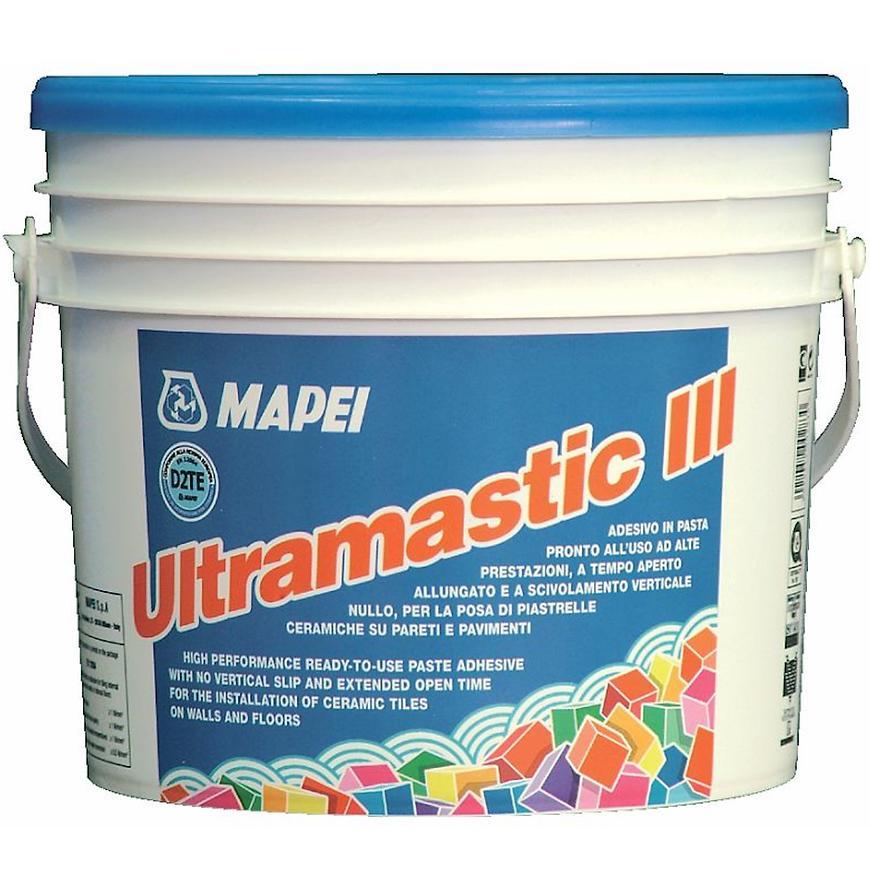Disperzní lepidlo na obklady a dlažbu Mapei Ultramastic III D2TE 5 kg