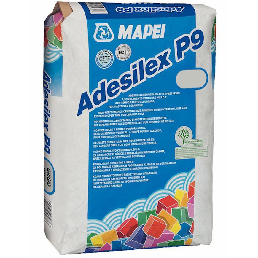 Lepidlo na obklady a dlažbu Mapei Adesilex P9 25 kg bílé