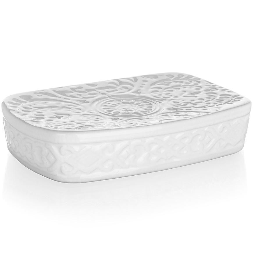 Mýdlenka keram. 14x9x3 cm bílá 42100508